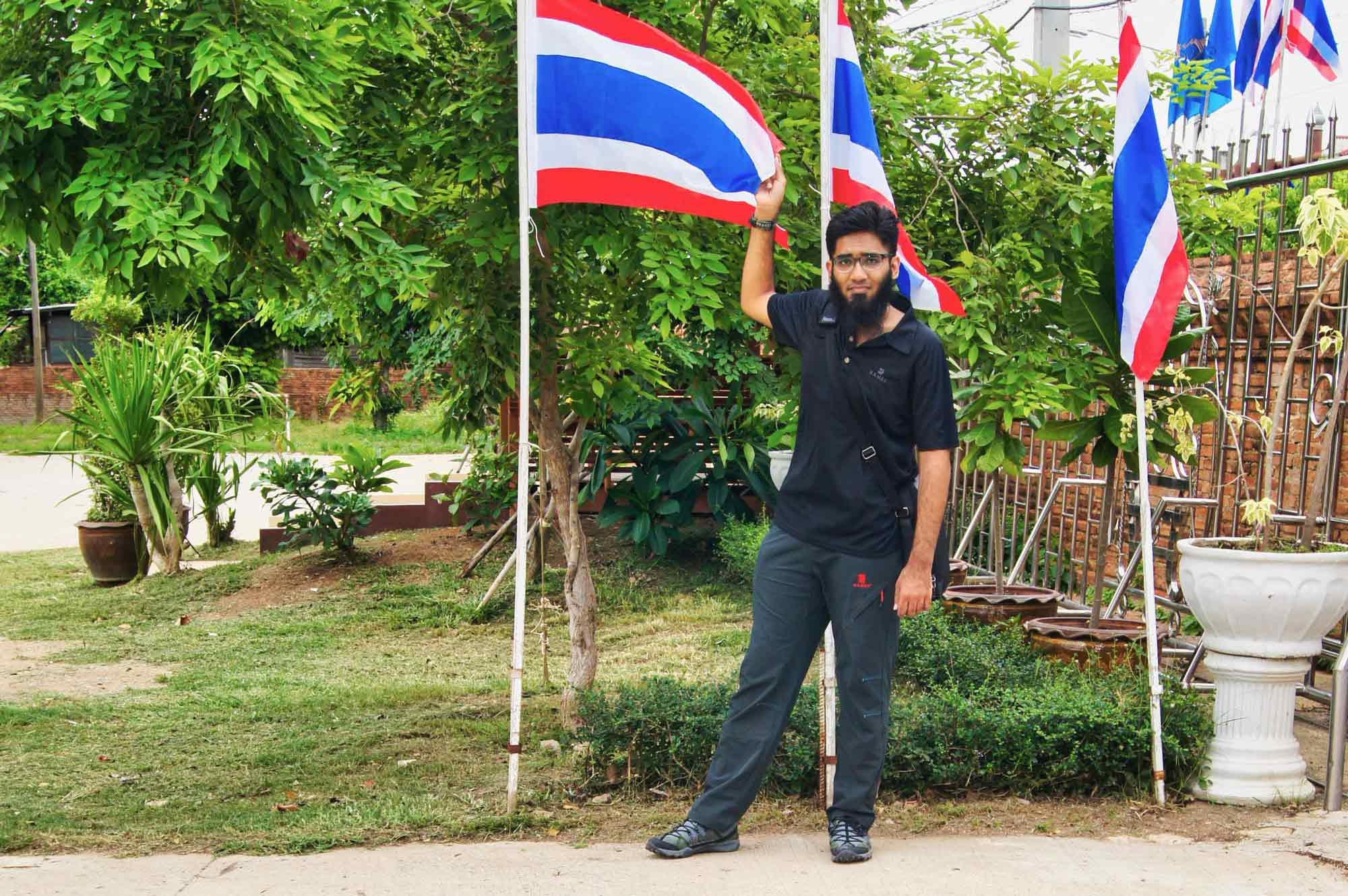 Man with Thailand Flag