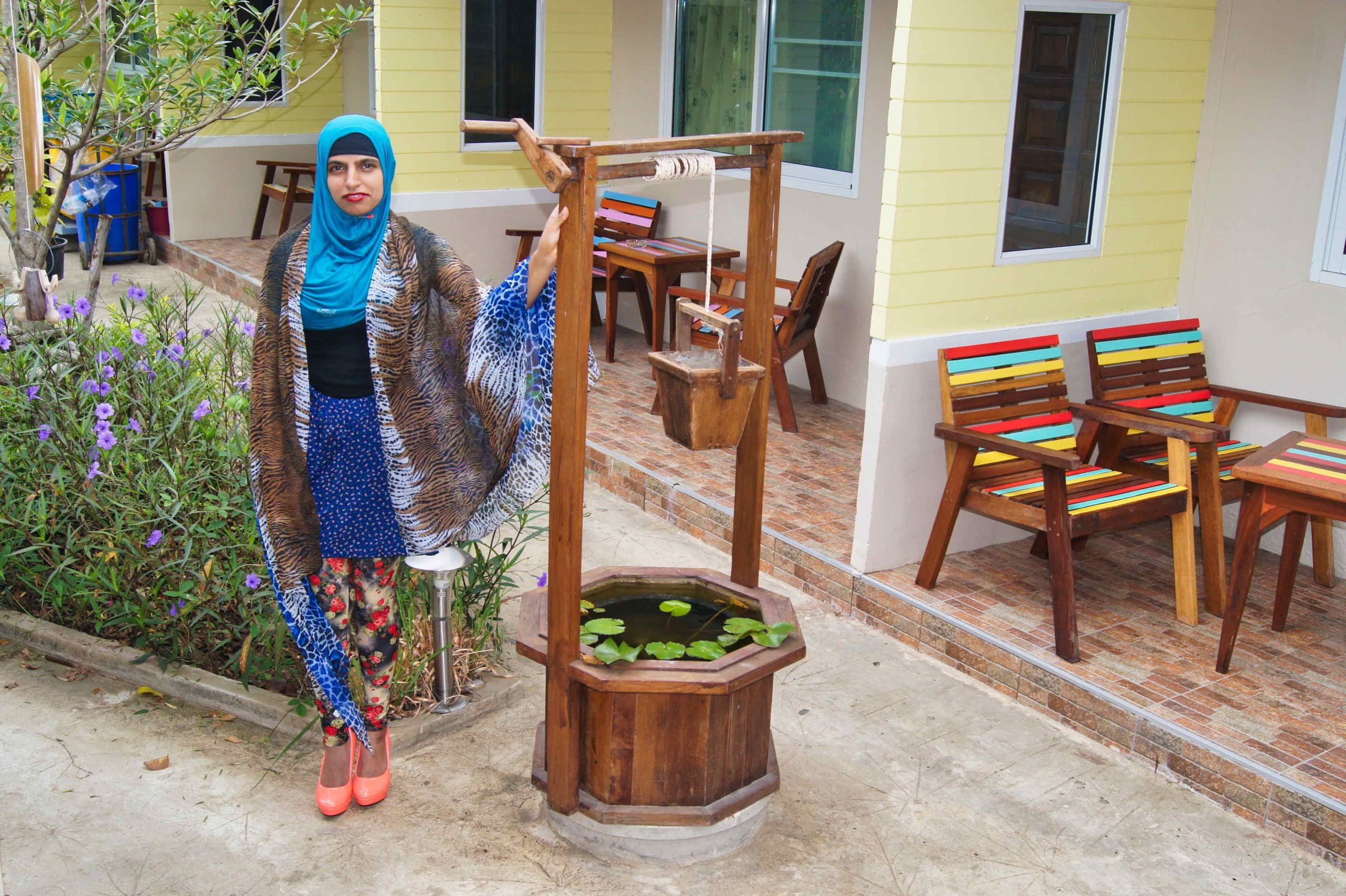 Muslim Girl at Q Zone Boutique Hotel