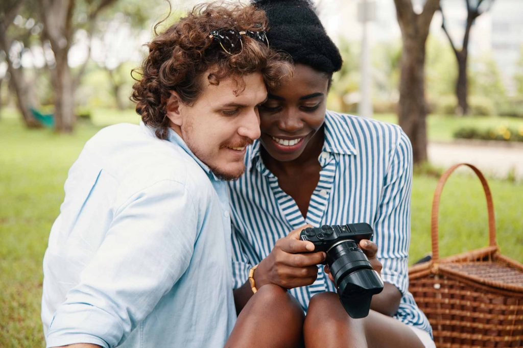 Interracial Couples Enjoying Travel Photography