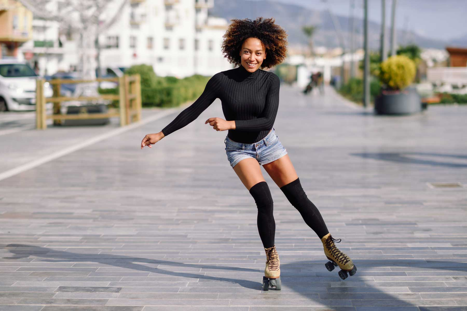 Afro Color Girl Posing for Photography