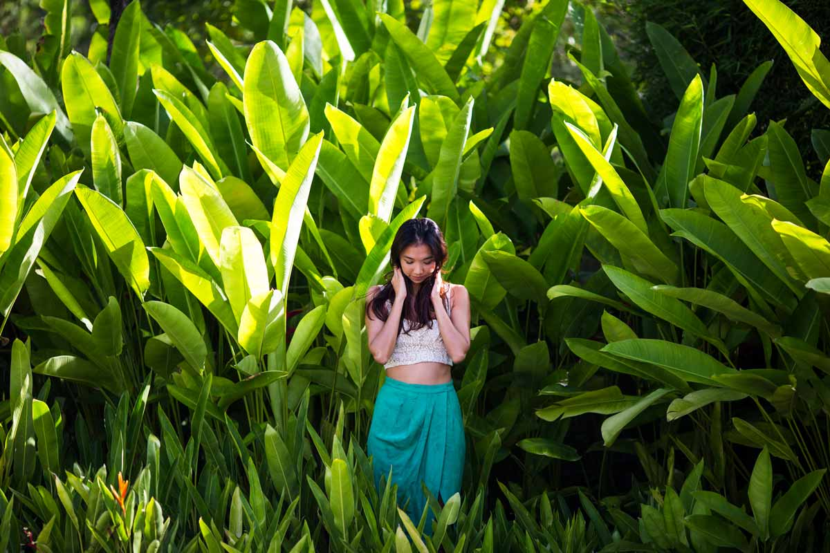indonesian girl in the tall grass